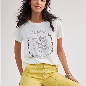 Anthropologie Together We Rise Tee